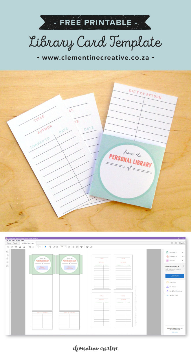 Free printable library cards for Free complimentary cards templates