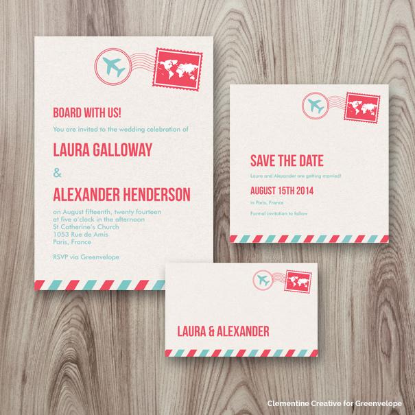 Wedding Invite Template 51 Stunning airmail wedding set