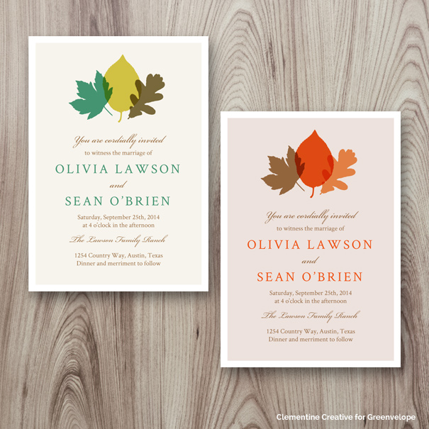 New E-Invitation Designs - September 2014 - Clementine Creative