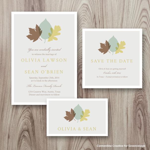New EInvitation Designs September Clementine Creative - Wedding e invite template