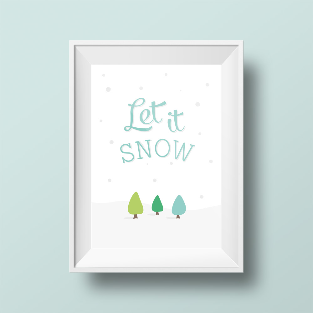 ... Christmas Printables / Printable Christmas Wall Art – Let it Snow