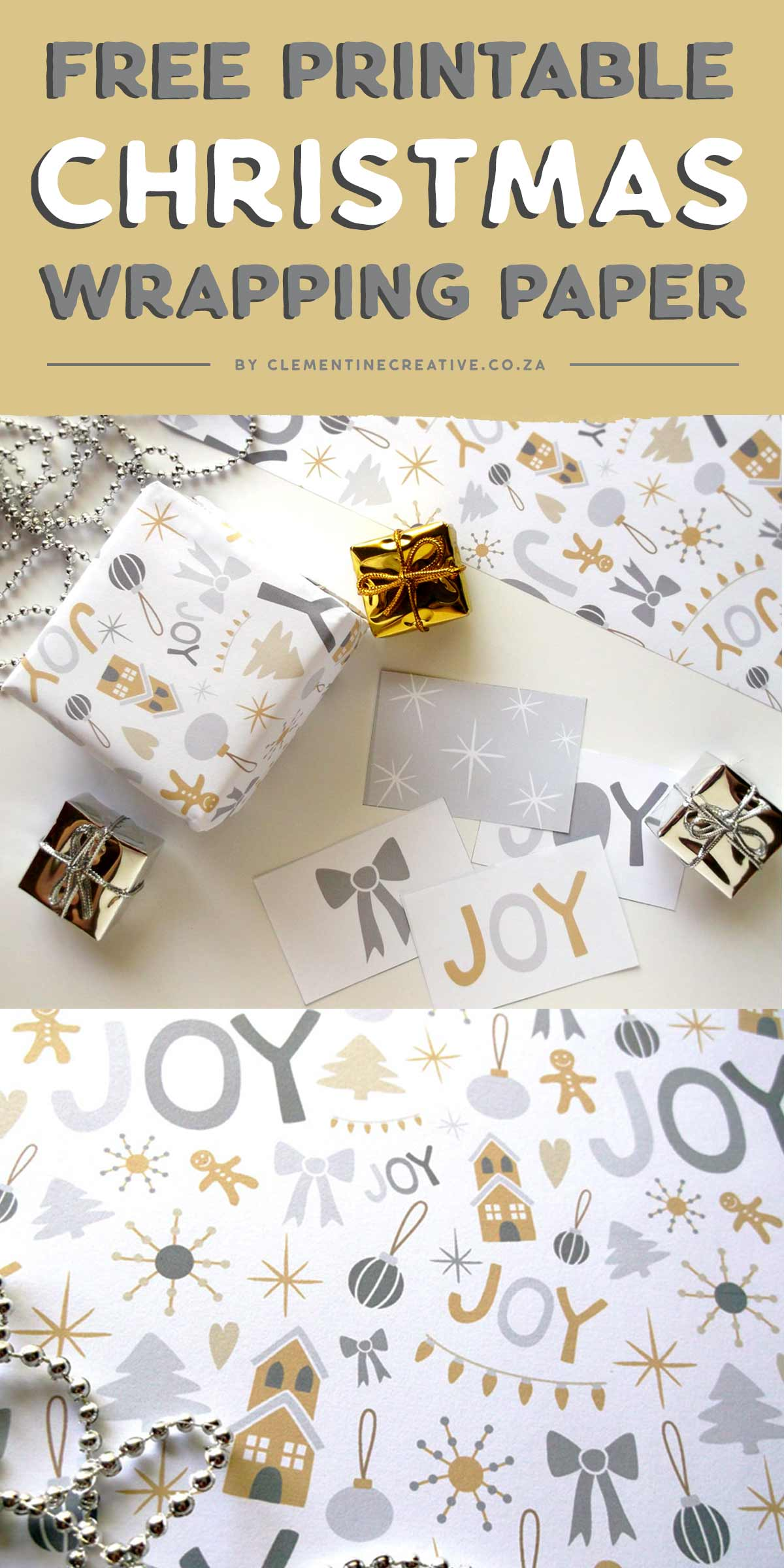 photograph relating to Printable Christmas Wrapping Paper referred to as Absolutely free Printable Xmas Wrapping Paper and Tags