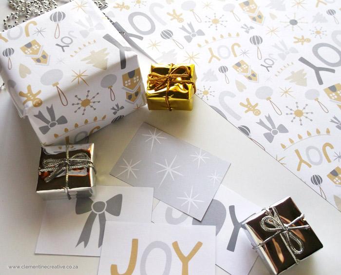 printable christmas fun wrapping paper