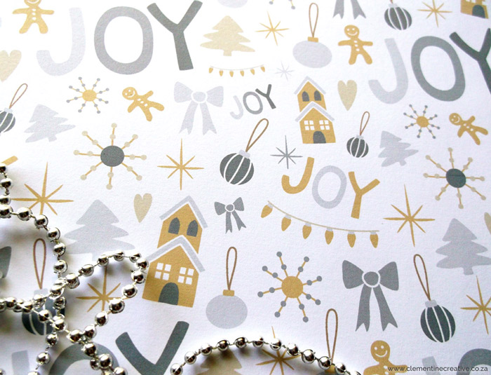 printable christmas wrapping paper with fun pattern