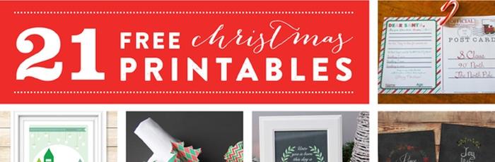 21 free christmas printables