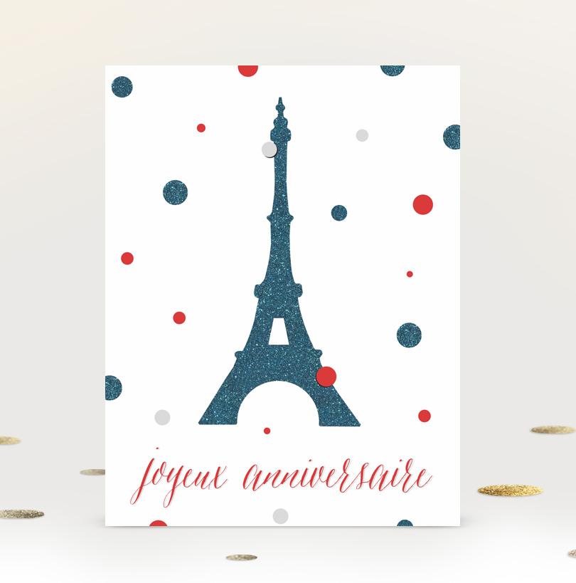 French Printable Birthday Card