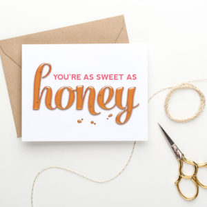 sweet printable valentine's day card