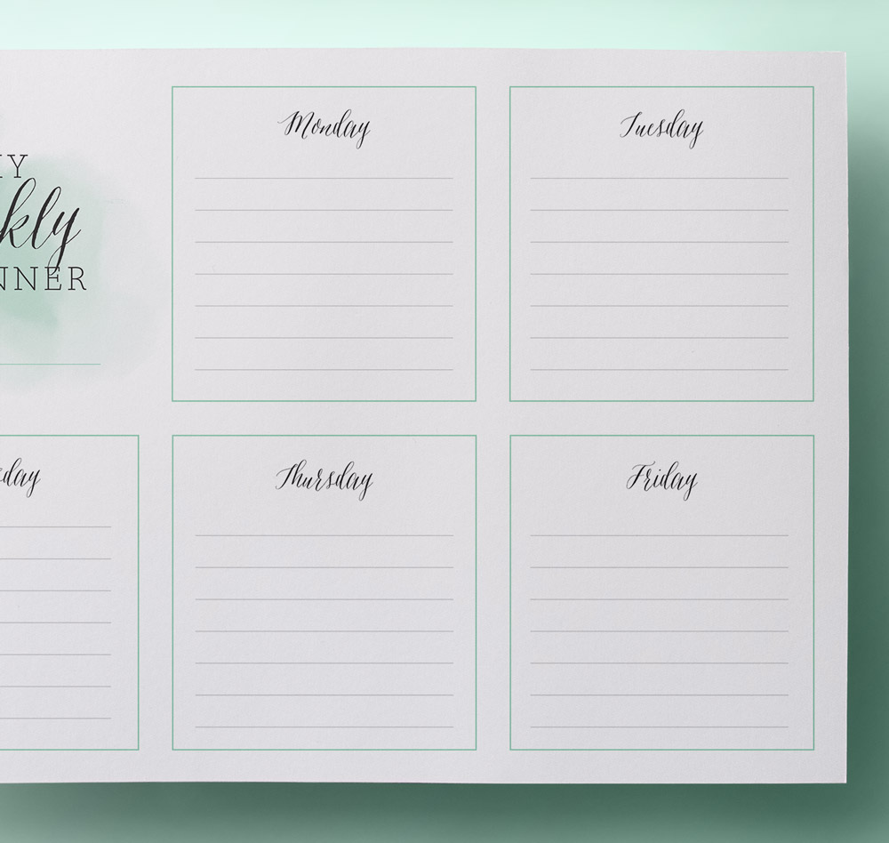 Printable Planners / Printable Weekly Planner – Simple and Stylish ...