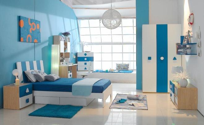 blue childrens bedroom
