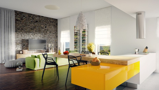 citrus living room