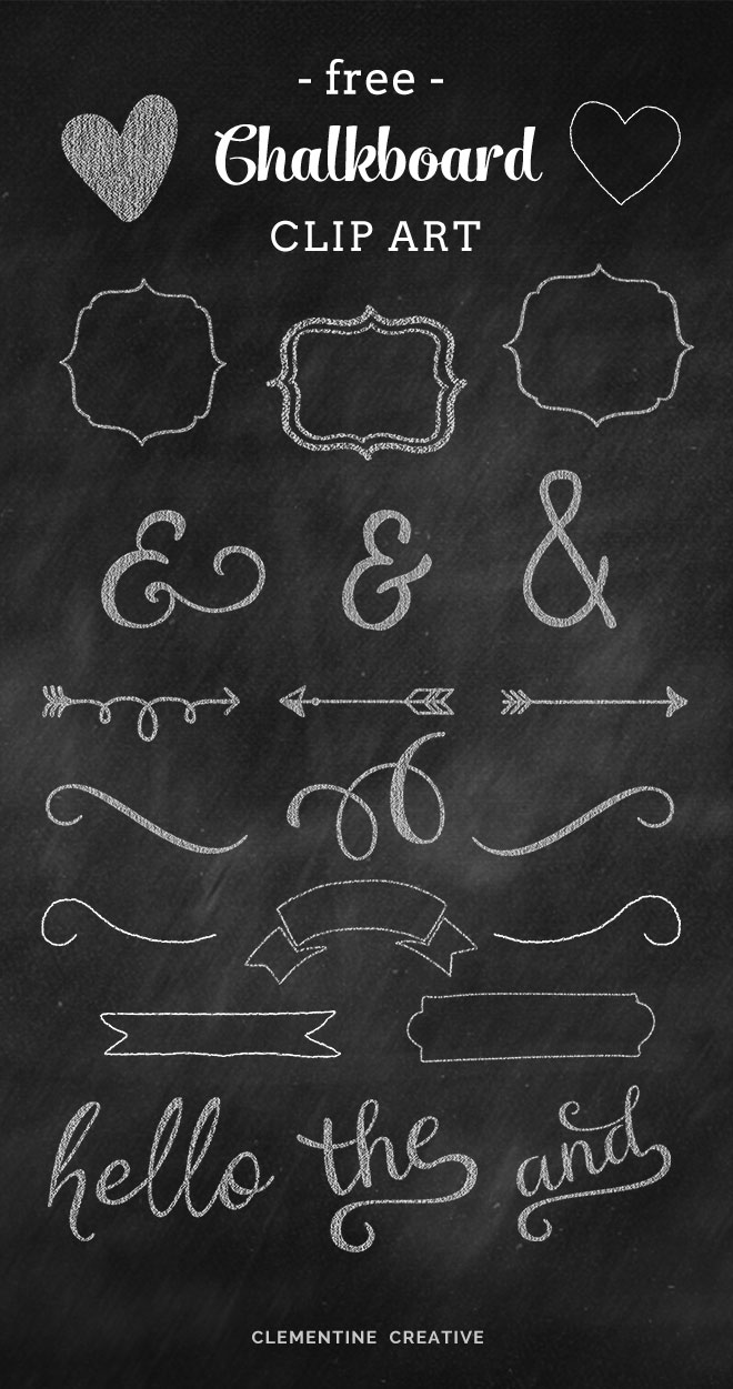 free chalkboard graphics and clip art
