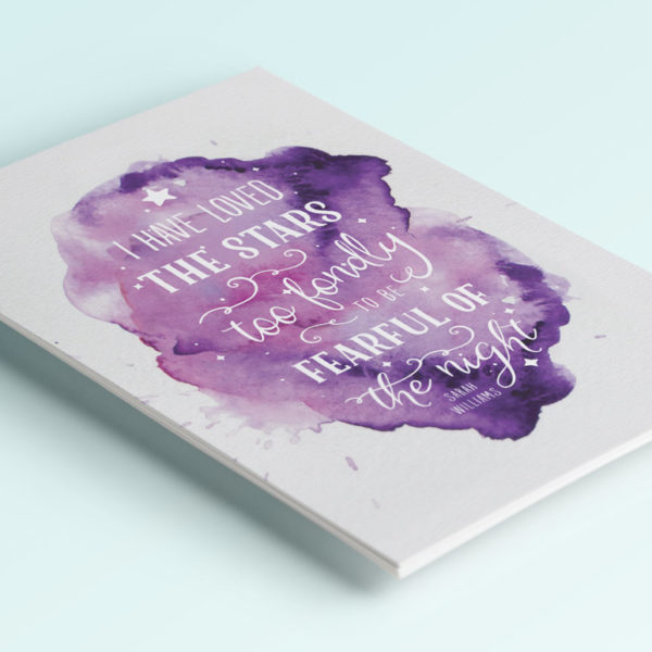 i have loved the stars too fondly printable quote