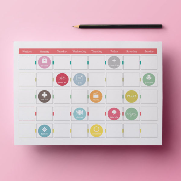 printable stickers for planners, diaries and calendars