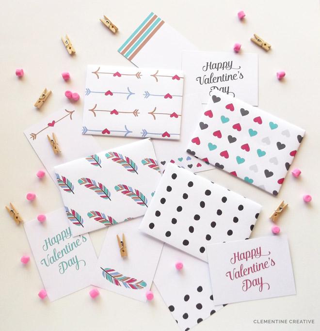 printable mini valentine envelopes