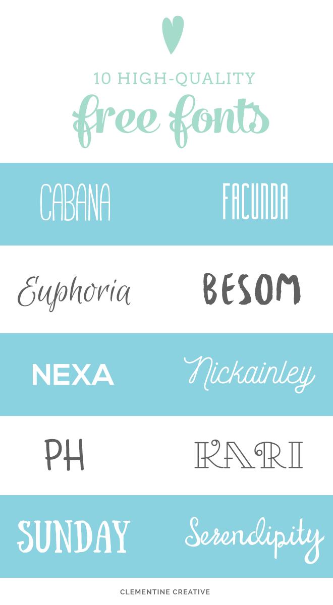 10 quality free fonts