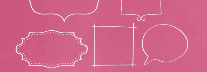 Hand-drawn Frames {Free Clip Art}
