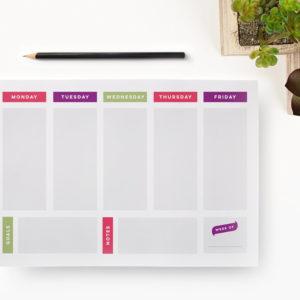 minimalist printable weekly planner page