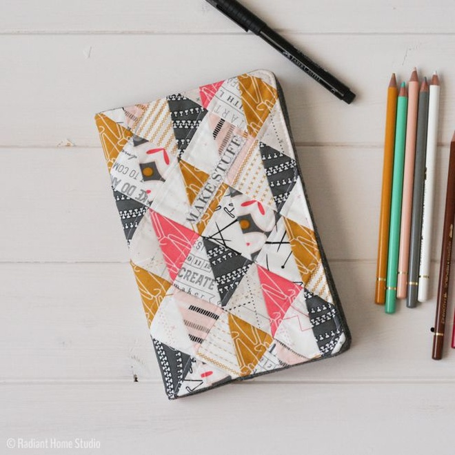 How To Make A Quilted Book Cover ~ More creative diy ideas for your workspace