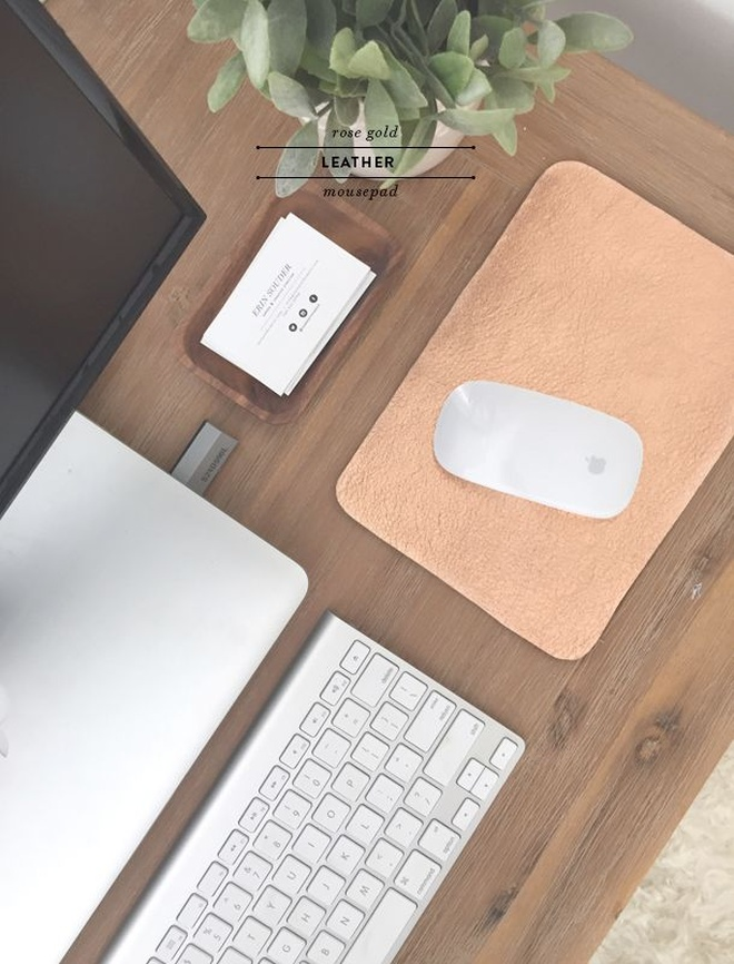 leather mousepad diy