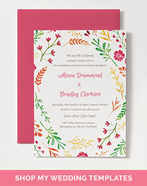 printable wedding templates