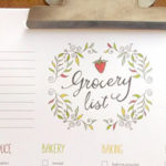 printable grocery list - fillable PDF file