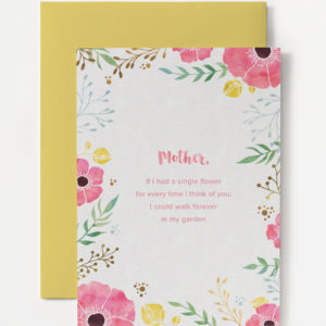 printable garden quote mother's day card