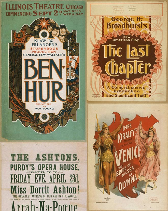 free vintage theater posters - find the download links here