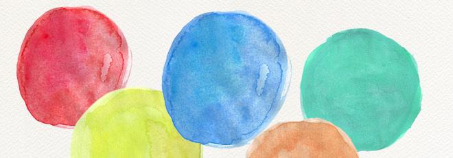 Watercolour Circles {Free Clip Art}
