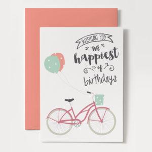 printable bicycle birthday card