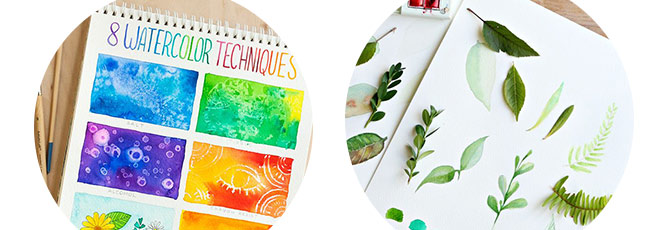 8 watercolouring tutorials