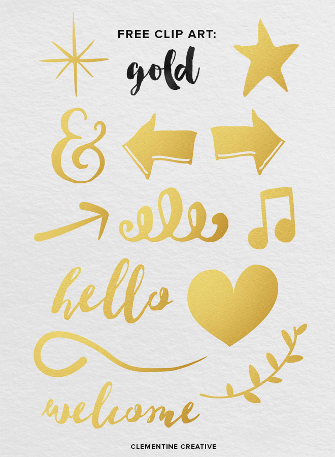Free gold clip art. Download here!