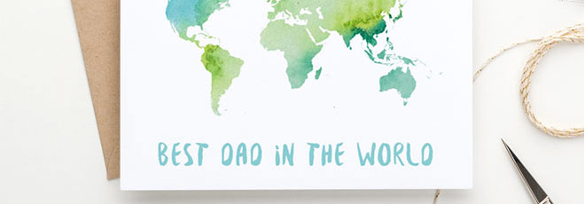 Free Printable Father's Day Card – Best Dad in the World