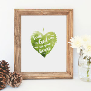 printable art: proverbs 3:5