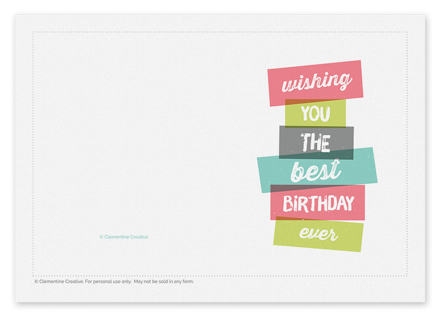 Printable Birthday Card gangcraftnet – Printable Birthday Card