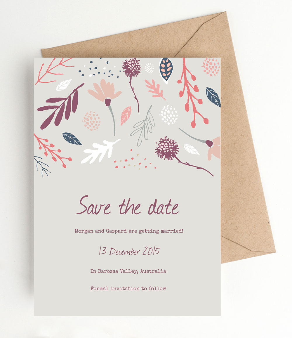 ... Save the Dates / Printable Wedding Save the Date – Autumn Woodland