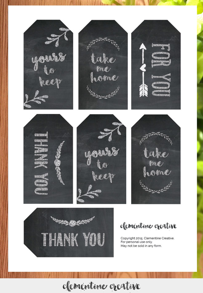 image regarding Free Chalkboard Printable called Free of charge Printable Chalkboard Favour Tags