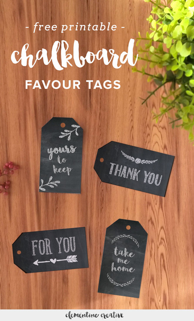 free chalkboard favour tags - download here!