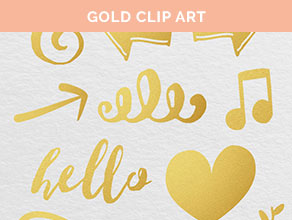 free gold clip art