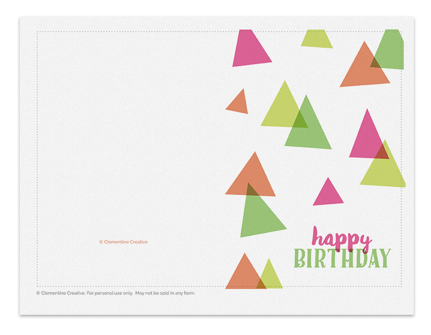 Printable Birthday Cards / Printable Birthday Card – Party Hats ...