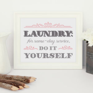 printable laundry service sign