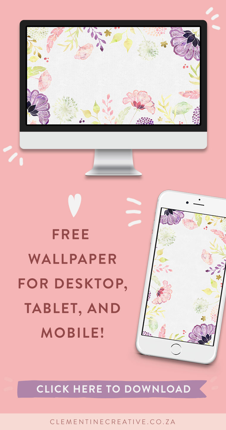Free Floral Desktop Wallpaper I Choose Happiness