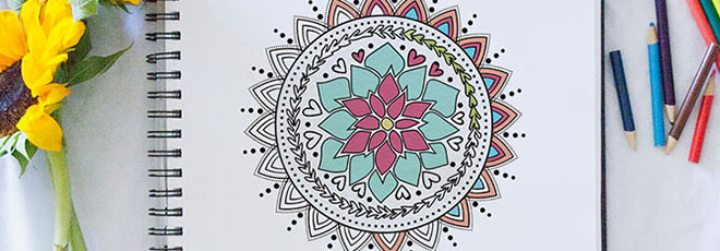free printable mandala colour-in pages