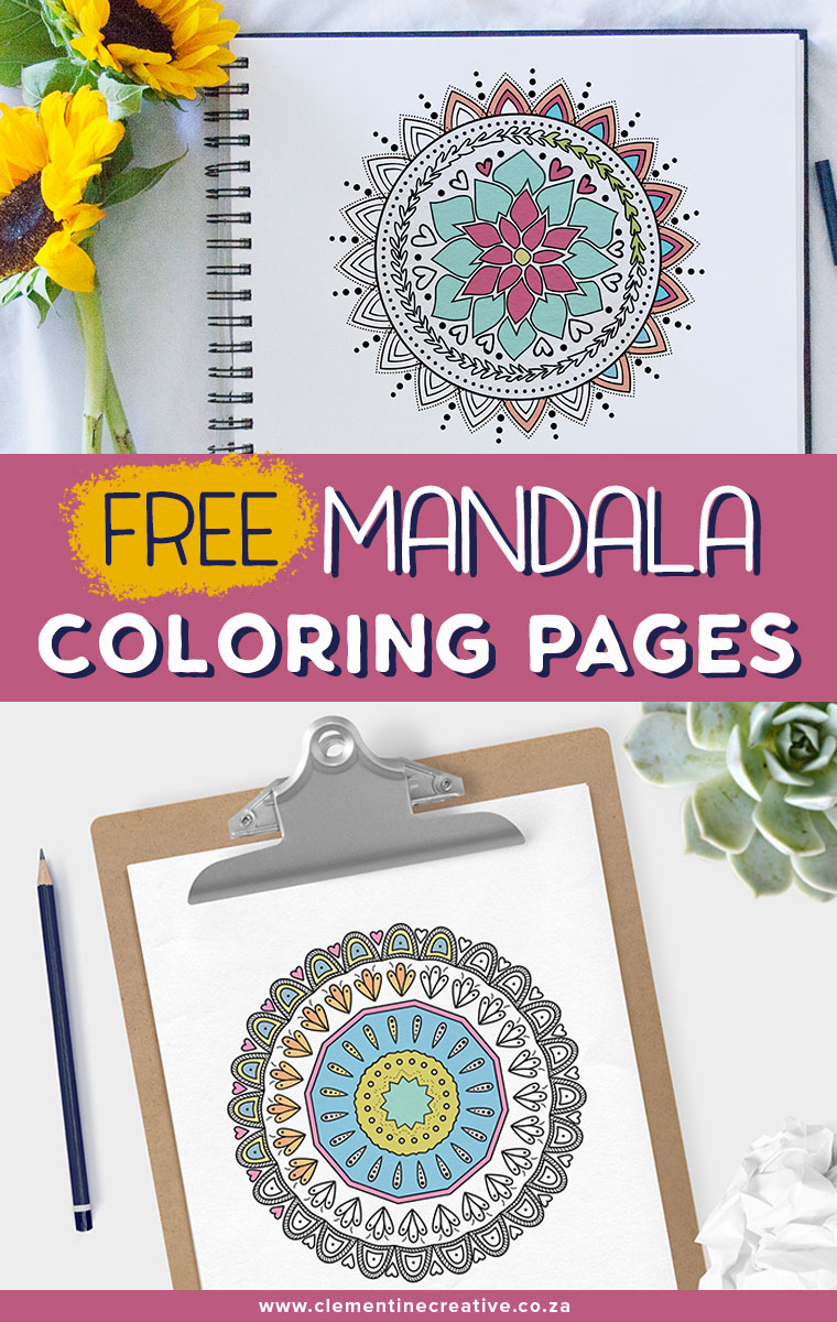 Free printable mandala coloring pages. Fun for adults and kids alike!