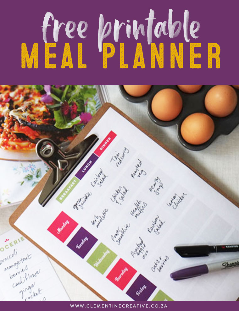 Free printable meal planner to help you plan your weekly meals. With your download you'll also receive matching grocery lists! Click here to download