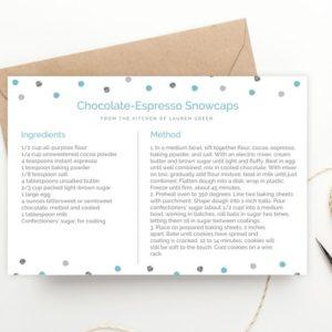 printable Chanukah recipe card