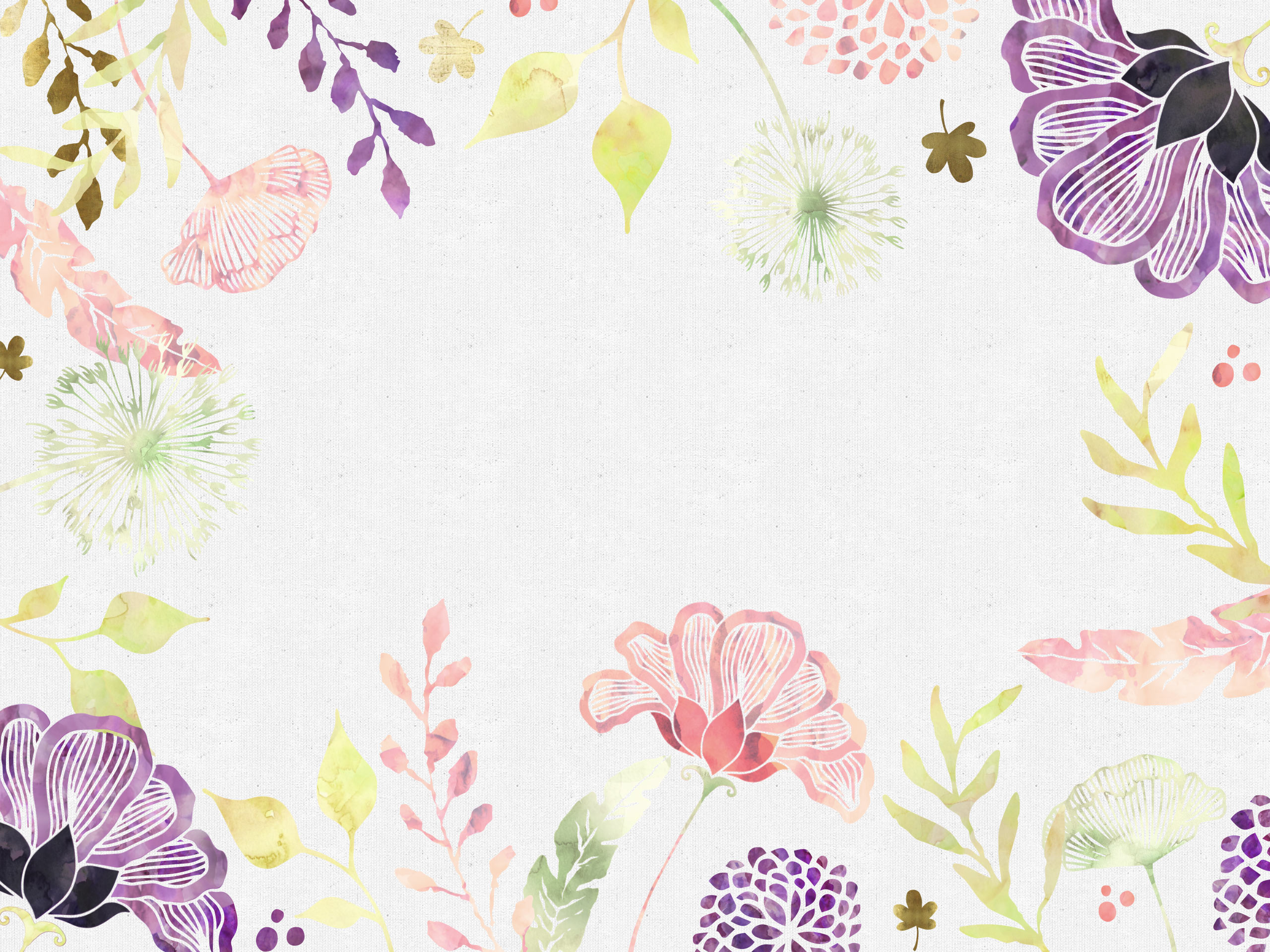 Free Floral Desktop Wallpaper - I Choose Happiness
