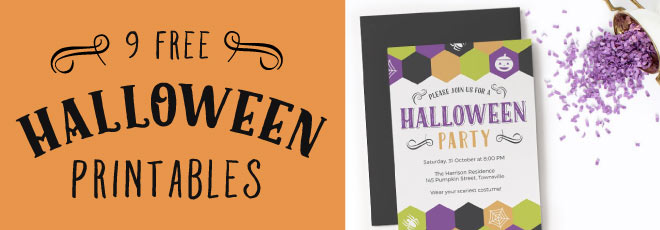 9 Free Fun Halloween Party Printables