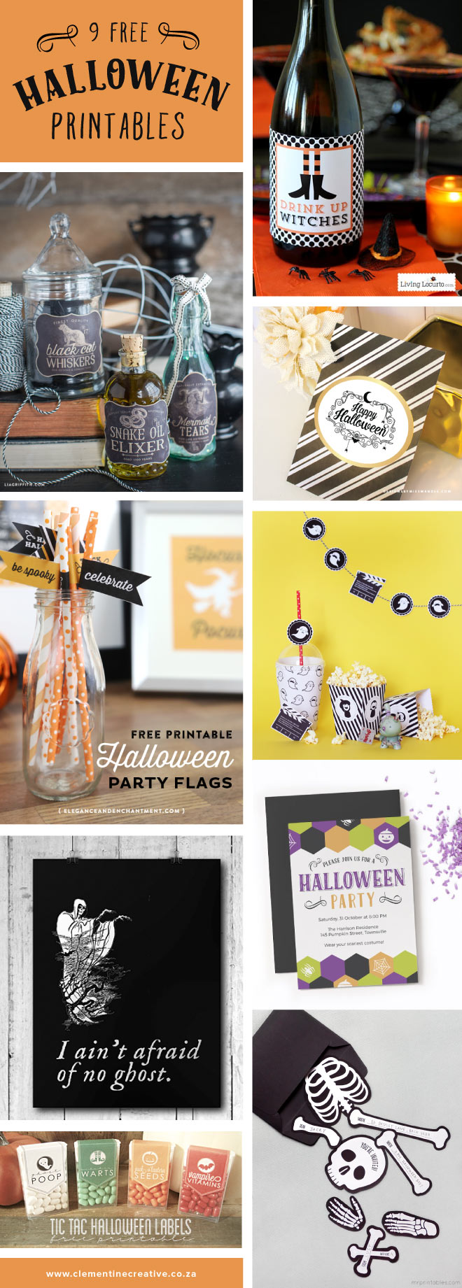 9 stunning Halloween party printables that are free to download!