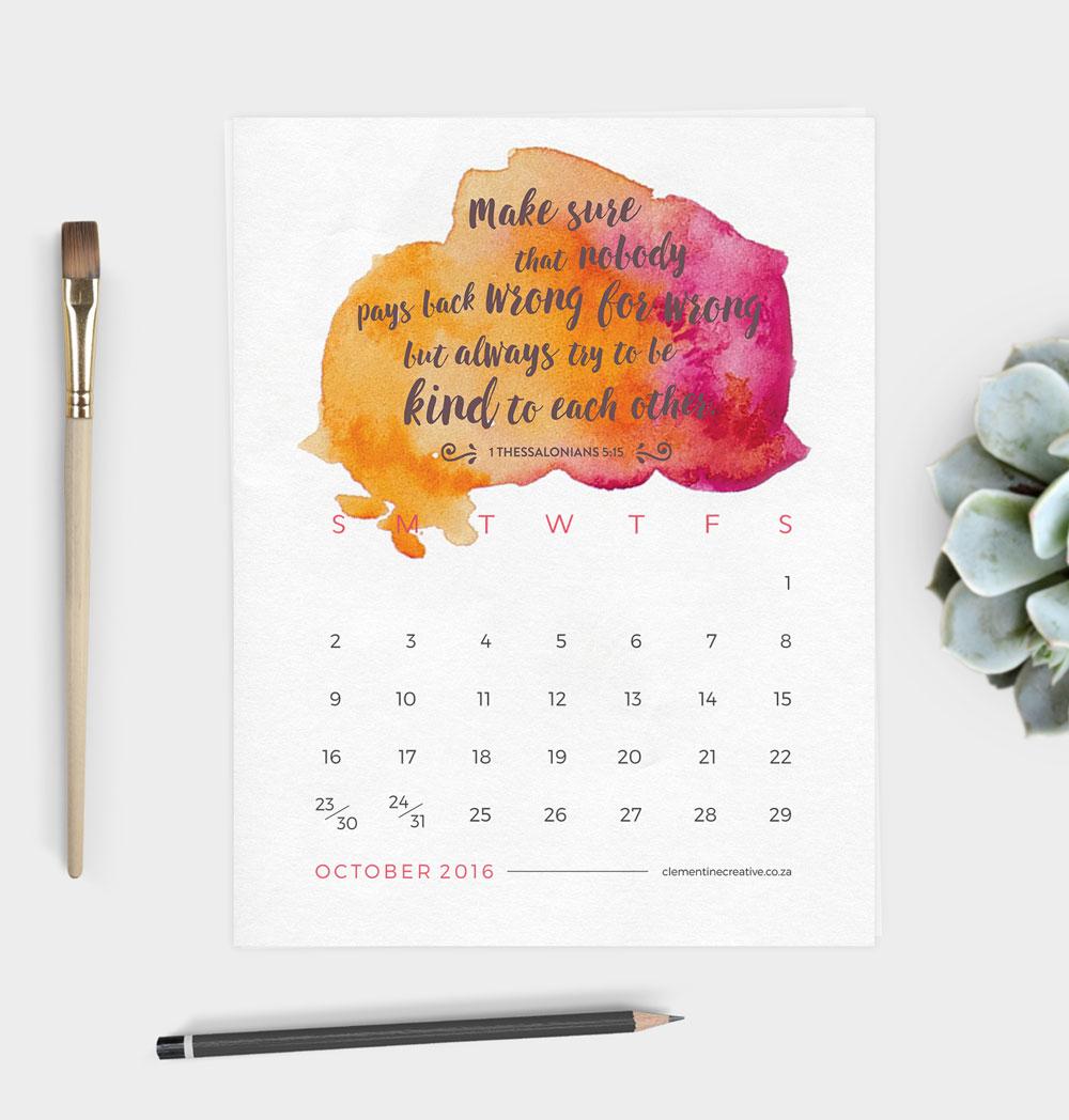 Home / Printable Calendars / Printable 2016 Calendar – Bible Verses ...