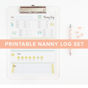 printable nanny chart set